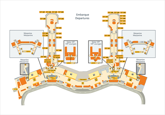 guarulhos international airport map Discover Gru Airport Maps Terminal 2 guarulhos international airport map